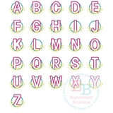 Swirl Alphabet Circle Applique - embroidery-boutique