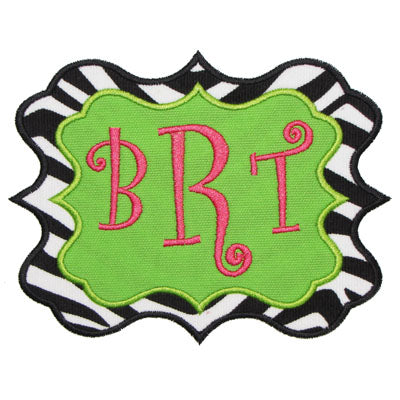 Sassy Monogram Frame Applique