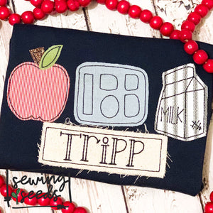 School Lunch Trio Applique SS - Sewing Seeds