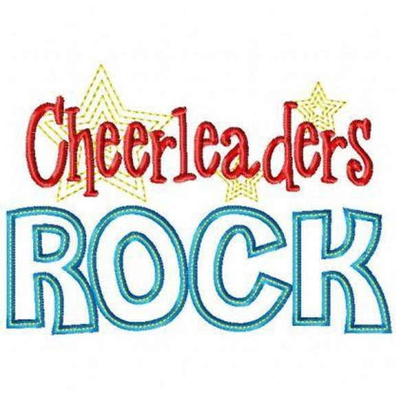 Cheerleaders Rock - embroidery-boutique