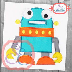 Rudy the Robot Applique