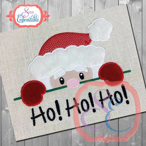 Santa Peeker Applique - embroidery-boutique