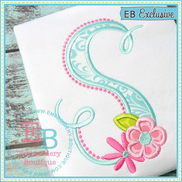 Bella Fleur Applique Alphabet, Applique