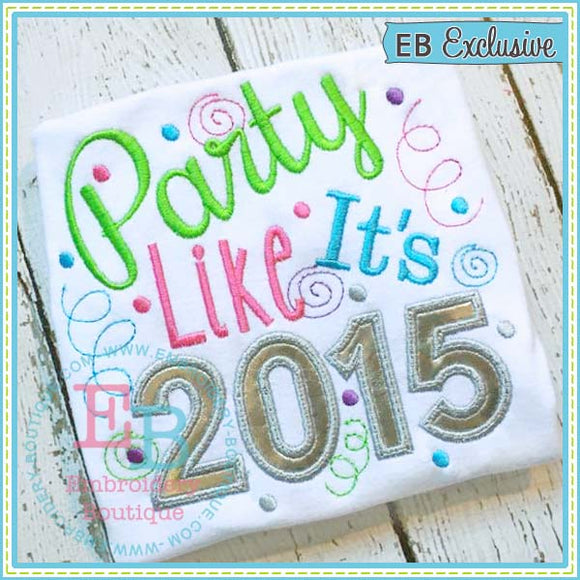 Party 2015 Applique