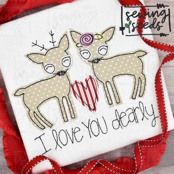 Deer- Love you Dearly Applique SS, Applique