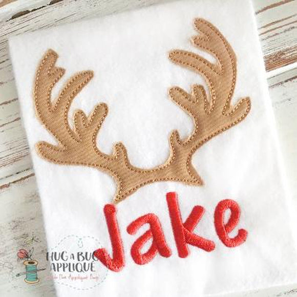 Deer Antlers Bean Stitch Applique, Applique
