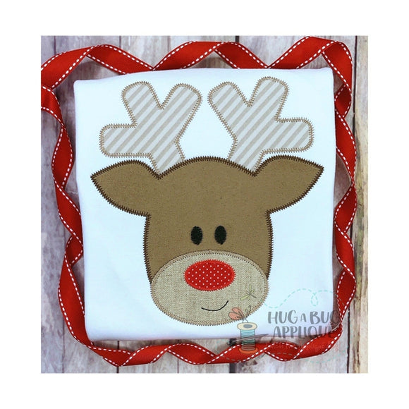 Reindeer Zig Zag Stitch Applique Design, Applique