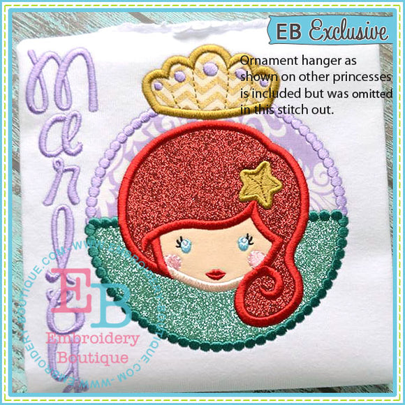 Princess 7 Ornament Applique