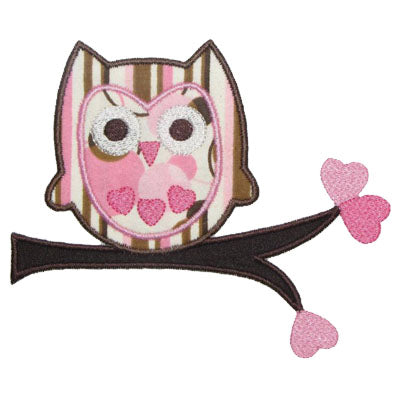 Heart Owl Applique - embroidery-boutique
