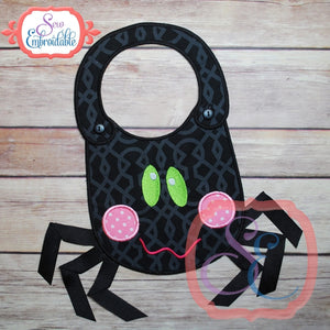 ITH Spider Baby Bib, In The Hoop Projects