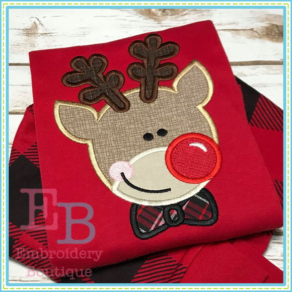 Boy Deer Applique