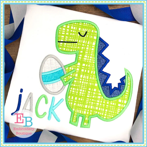 Easter Dino Satin Applique