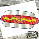 Hot Dog Applique SS-Embroidery Boutique