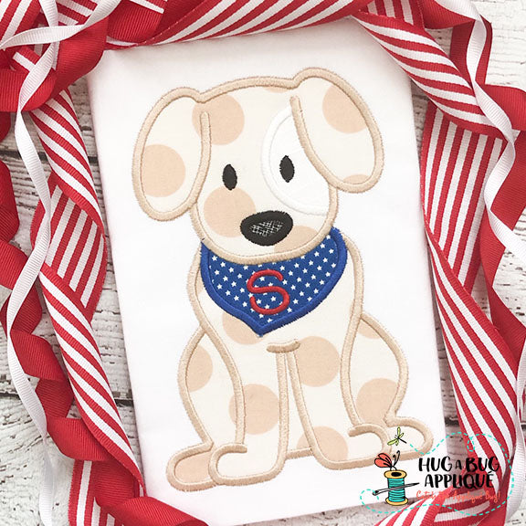 Dog Bandana Satin Stitch Applique Design, Applique