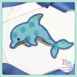 Dolphin 3 Applique - embroidery-boutique