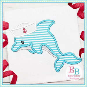 Dolphin Hat Applique - embroidery-boutique