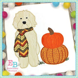 Doodle Pumpkins Applique- bow and no bow versions included, Applique