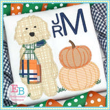 Doodle Pumpkins Zigzag Applique- bow and no bow versions included, Applique
