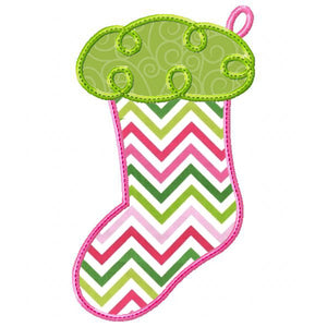 Swirly Stocking Applique - embroidery-boutique