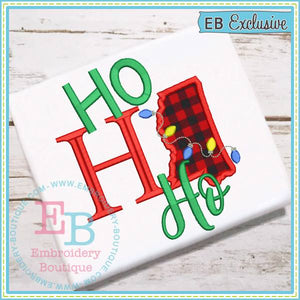 Ho Ho Ho Mississippi Applique