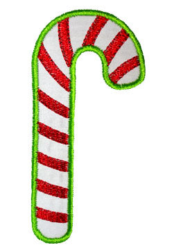 Candy Cane Applique - embroidery-boutique
