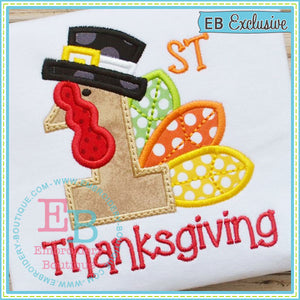 First Thanksgiving Applique - embroidery-boutique