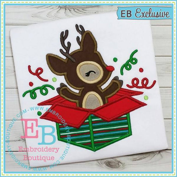 Deer Box Applique