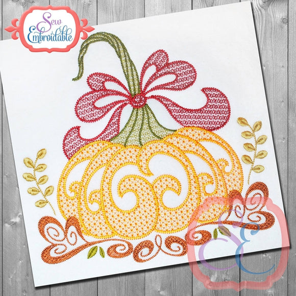 Motif Harvest Pumpkin, Embroidery