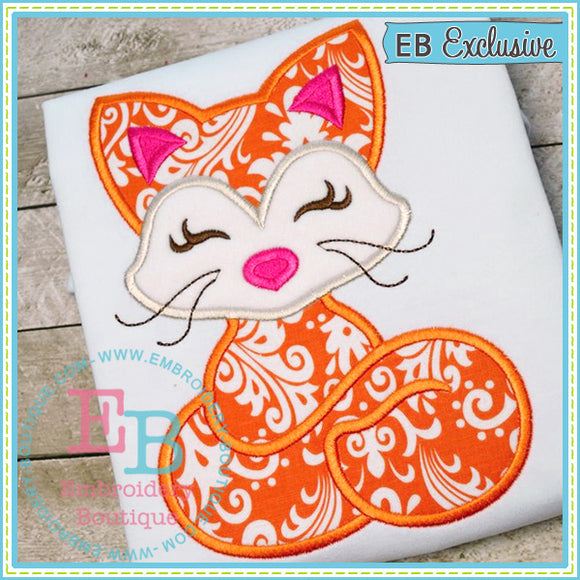 Woodland Fox Applique - embroidery-boutique