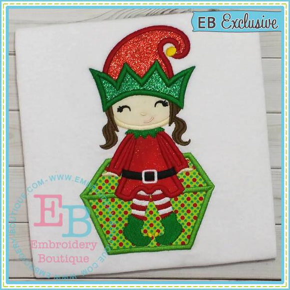 Elf Girl Applique, Applique