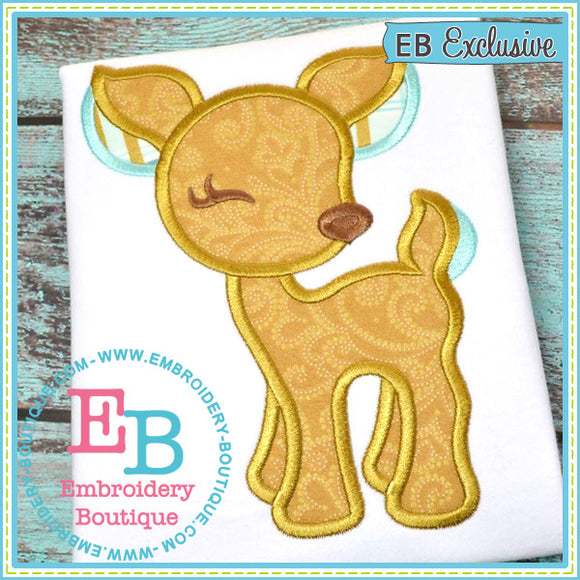 Woodland Deer Applique, Applique