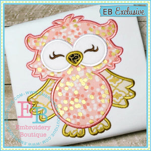 Woodland Owl Applique - embroidery-boutique