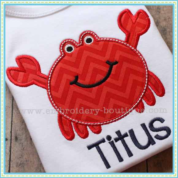 Crabby Applique, Applique