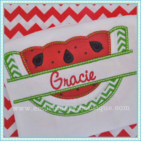 Split Watermelon Applique - embroidery-boutique