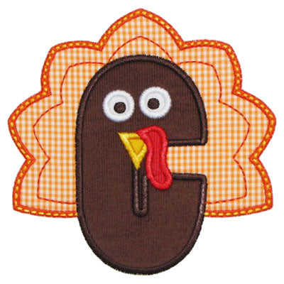 Turkey Applique Alphabet - embroidery-boutique