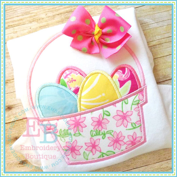 Simple Easter Basket Applique, Applique