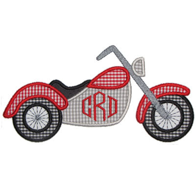 Motorcycle Applique - embroidery-boutique