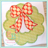 Scribble Wreath Applique - embroidery-boutique