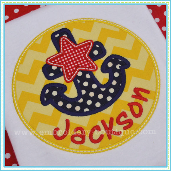 Star Anchor Patch, Applique