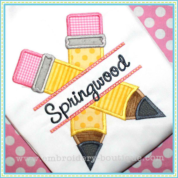 Split Pencils Applique - embroidery-boutique