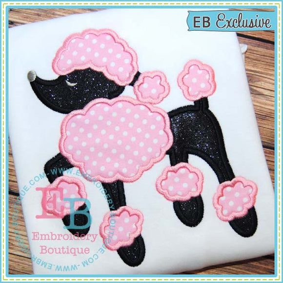Poodle Applique, Applique