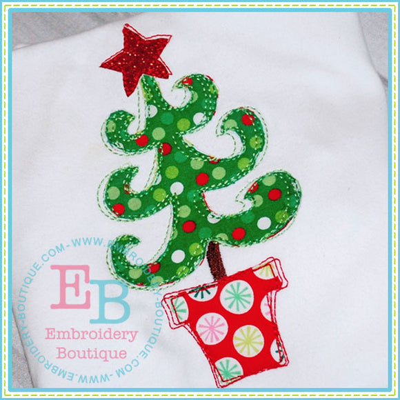 Scribble Whimsy Tree Applique - embroidery-boutique