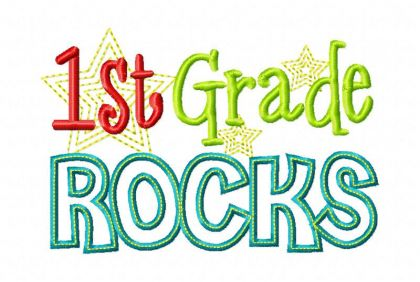 First Grade Rocks - embroidery-boutique