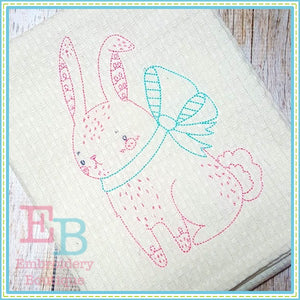 Vintage Stitch Bunny Design - embroidery-boutique