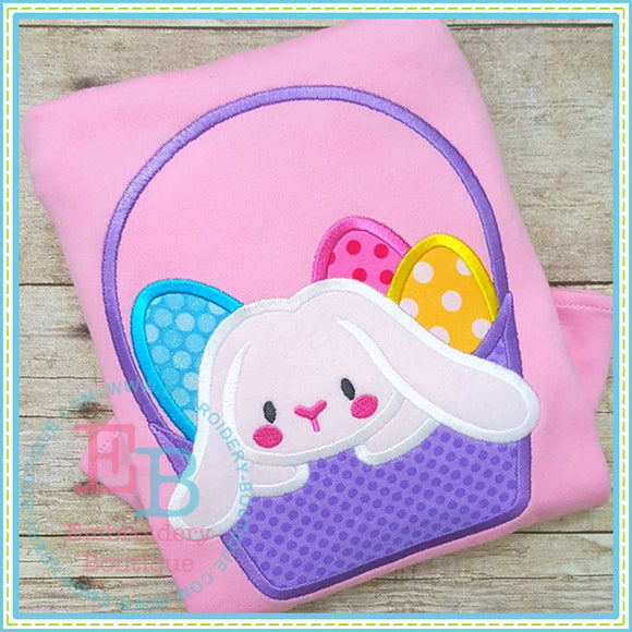 Bunny Basket Applique, Applique