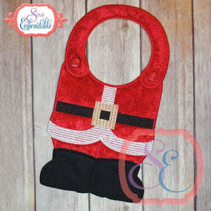 ITH Santa Suit Bib, In The Hoop Projects