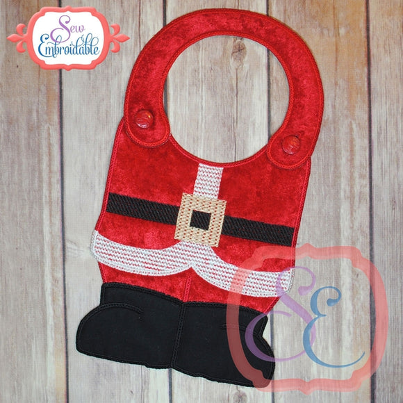 ITH Santa Suit Bib - embroidery-boutique