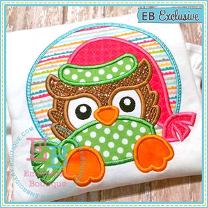 Owl Peeker Applique Design