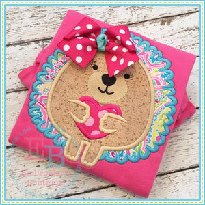 Heart Hedgehog Applique