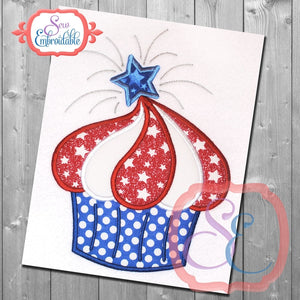 July Cupcake Applique